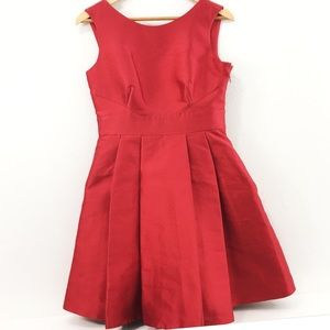 Kate Spade Red Bow Silver Lining Mini Dress Sz 6